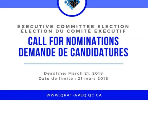 Call For Nominations: Executive Committee 2018-2020