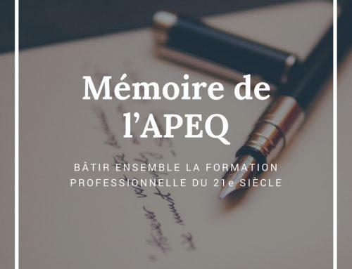 BÂTIR ENSEMBLE LA FORMATION PROFESSIONNELLE DU 21e SIÈCLE