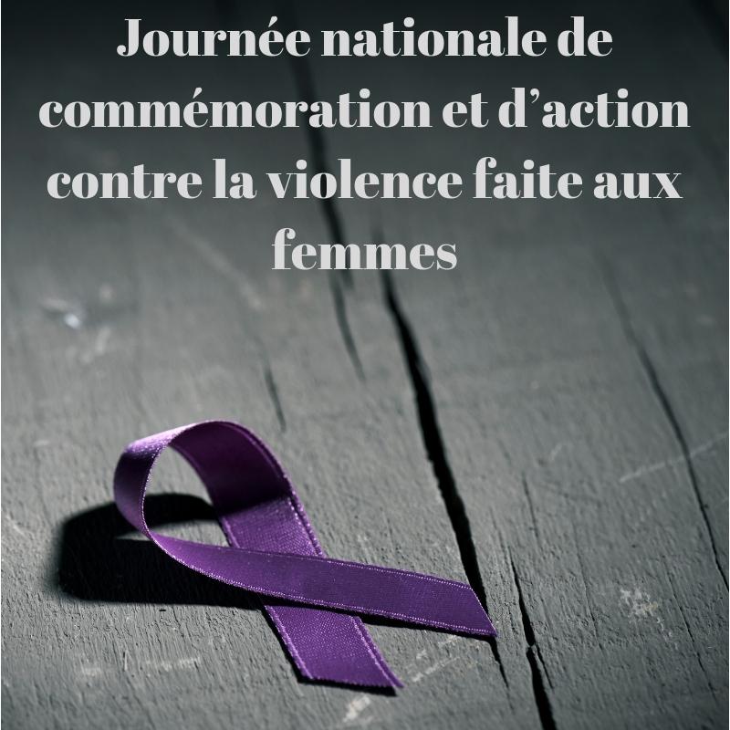 Journée nationale de commémoration et d'action contre la violence faite aux femmes