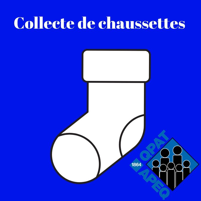 Collecte de chaussettes du Comité des droits de la personne et de la justice sociale de l'APEQ